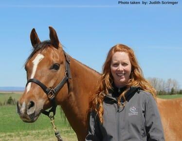 Sarah with Horse
